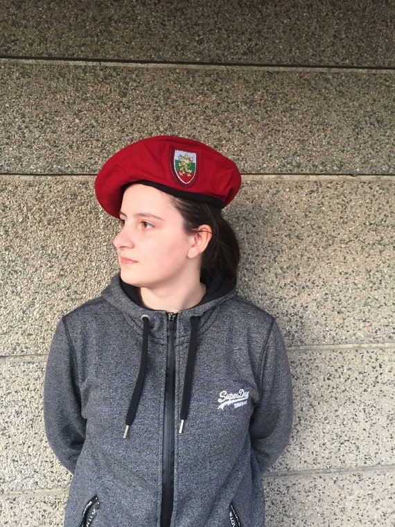 Red Beret, Women's Beret, Bulgarian Beret, Wine Re