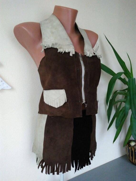 Vintage Suede Suit, Suede Skirt Suit, Skirt Suit,