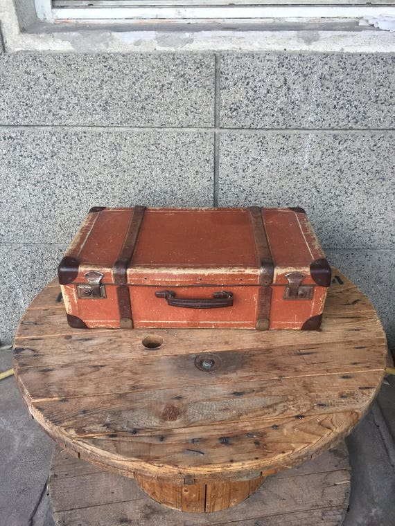 Vintage Suitcase, Large Suitcase, Retro Suitcase,