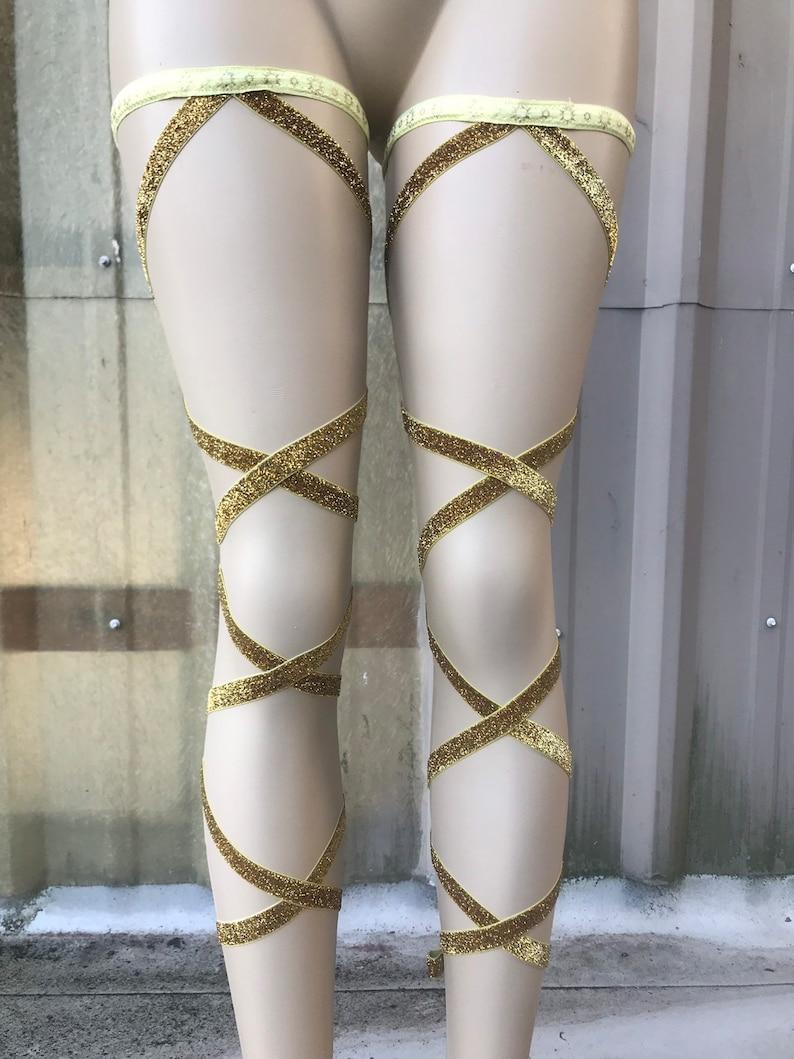Glitter Leg Wraps  Leg Wraps  Garter Leg Wraps  Festival image 0