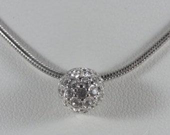 Monet Deco Rhinestone Necklace Deco Rhinestone Slider Necklace Rhinestone Ball Slider Necklace Monet Jewelry Designer Necklace Monet