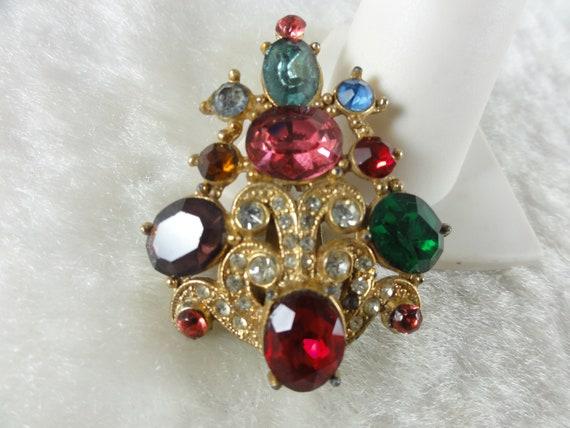 Vintage Art Deco Dress Clip Fur Clip Jeweled 1930'