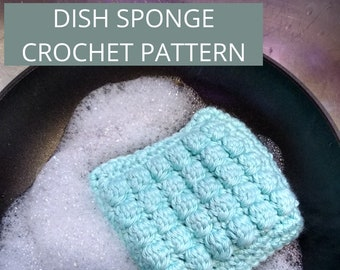 Double Thick N Textured Sponge CROCHET PATTERN ONLY Beginner Challenge Intermediate wash cloth cotton yarn dish cloth craft fair gift