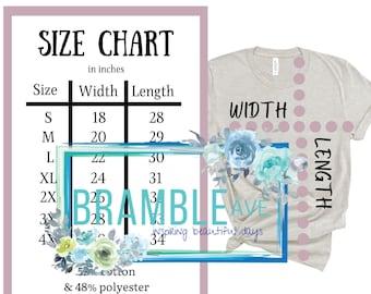Bella + Canvas 3001 CVC Size Chart   2x 3x 4x   Fabric Content   Unisex Tshirt Guide