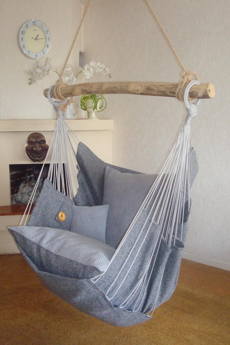 Hammock Chair Dark Gray Gray