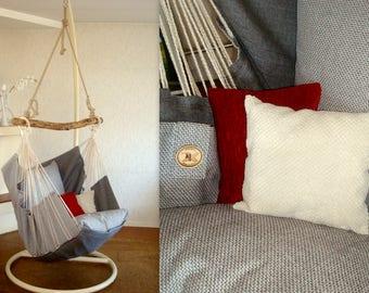 Chaise hamac pour la maison et le jardin gris/gris