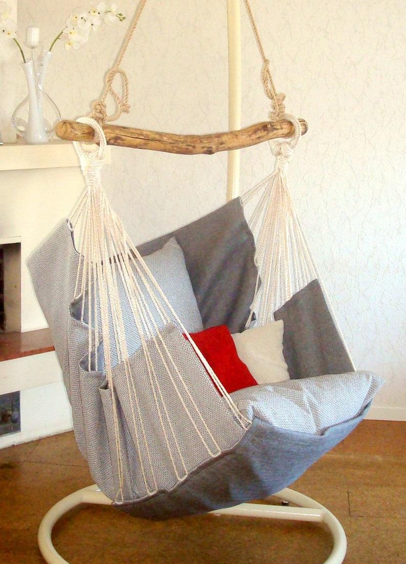 Hammock Chair Gray Dark Gray