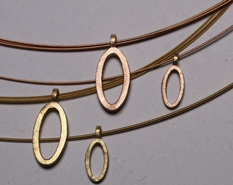 """Pendant """"Oval"""" in red and yellow gold in 2 sizes"""