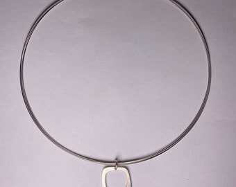 Necklace 5-row, stainless steel, bayonet catch 1,8mm, different lengths