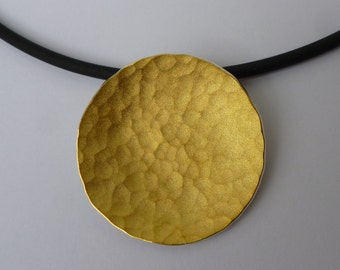 """Sun"" 900 gold and silver pendant"