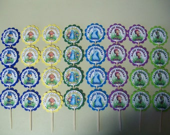 32 - BEAT BUGS personalized, cupcake toppers, birthday,  party favors