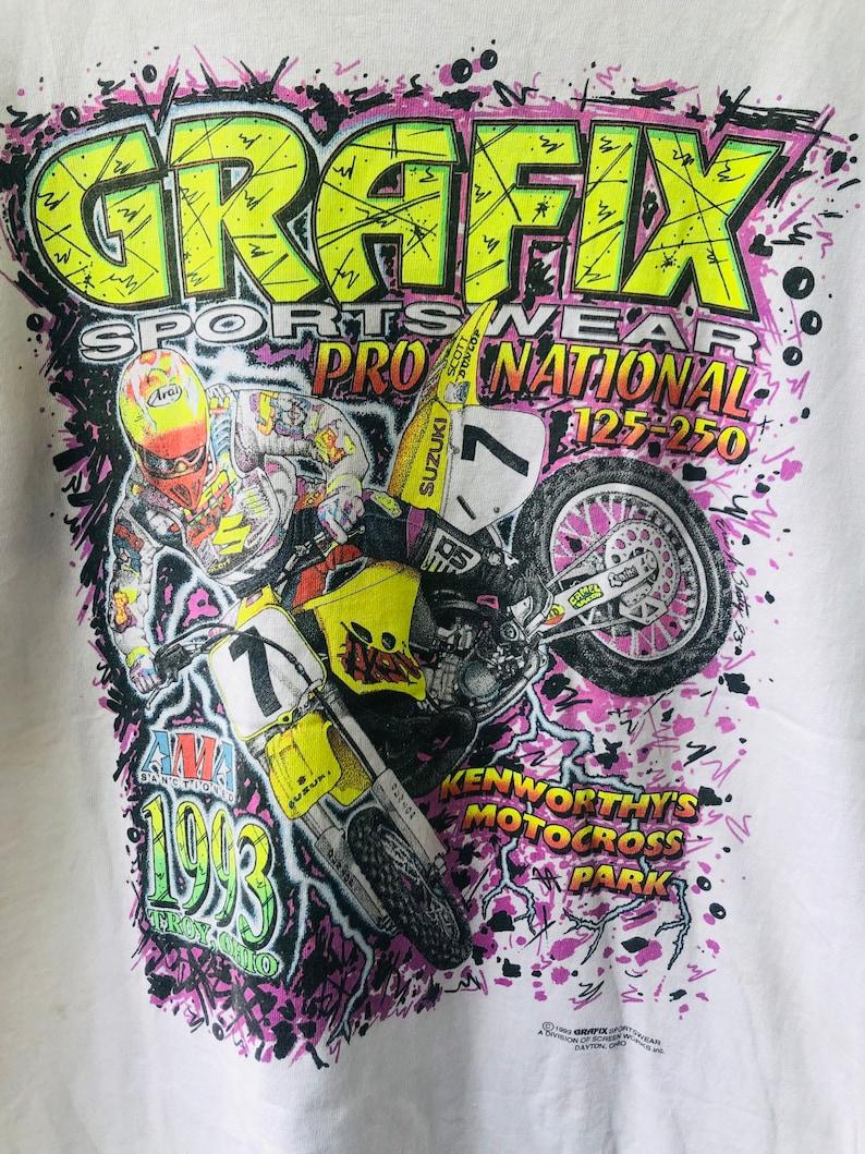 Vintage Original 90\u2019s Grafix Sportware \u201c Motocross Championship 1993 \u201c T-Shirt