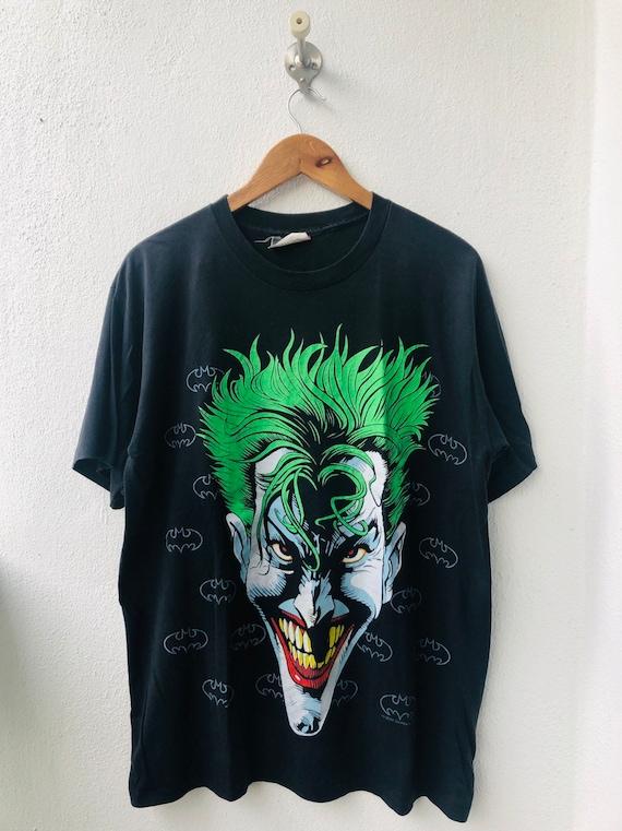 Official T Shirt DC Comics Batman JOKER Black Vintage HAHA Holes All Sizes