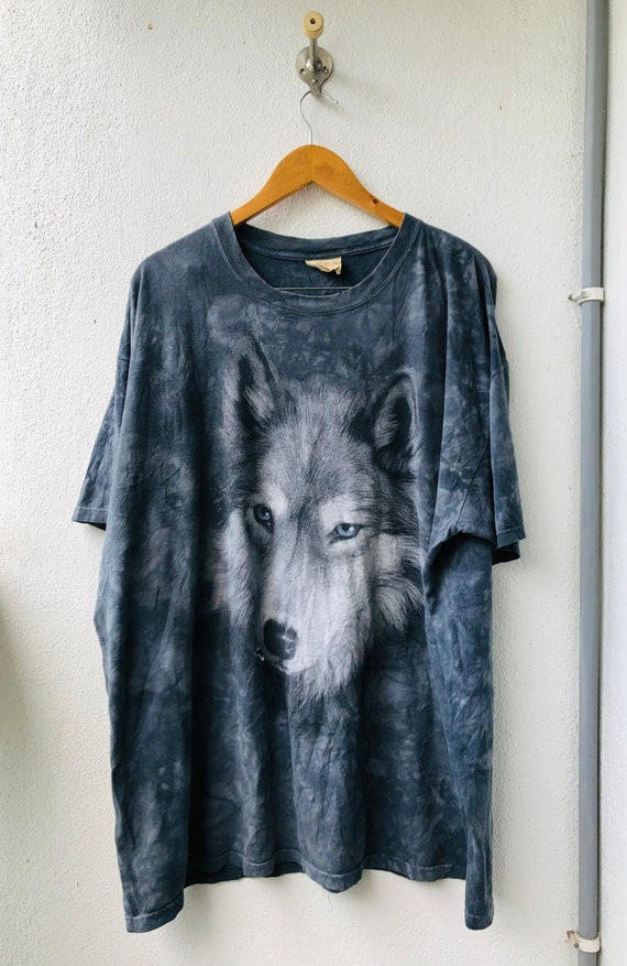 The Mountain Adult Song of Autumn Wolf Animal T Shirt
