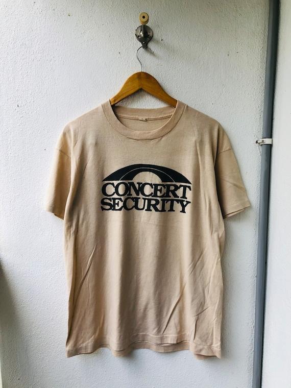 Vintage 80's Concert Security Tour Band T-Shirt