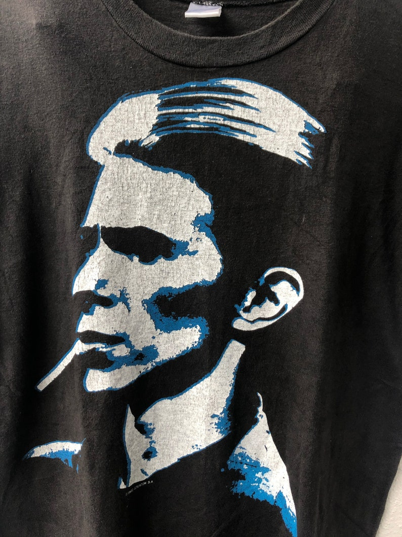 Vintage Original 80/'s David Bowie  Serious Moonlight 1985  By Stenton S.A Records Promo T-Shirt