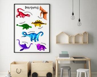 Hape Brontosaurus Kids Wooden Mosaic Wall Art Kit