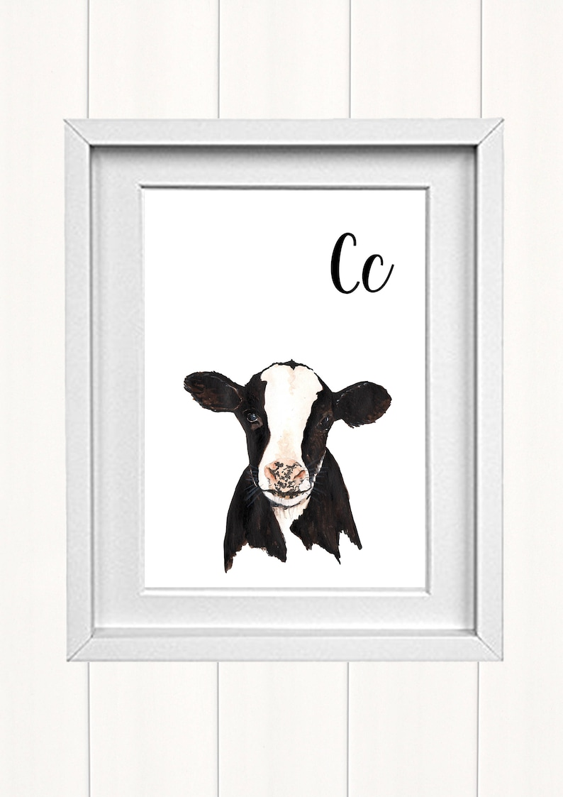 Animal Prints for Nursery Alphabet Print Cow Print Animal Alphabet Alphabet Letters ABC letters