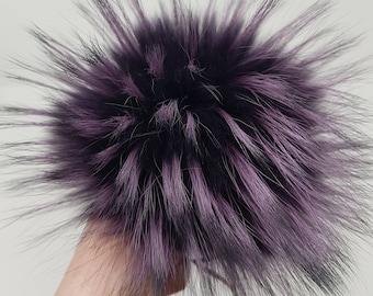 d939732edc3 Fur pom Gift for sister ideas Fur pompom accessories Ultra violet Raccoon  fur Pom pom large fur Ball real fur Extra large fur pom pom