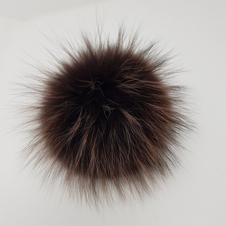 d1b933f78bd Dark chocolate Fur pom Gift for sister ideas Fur pompom