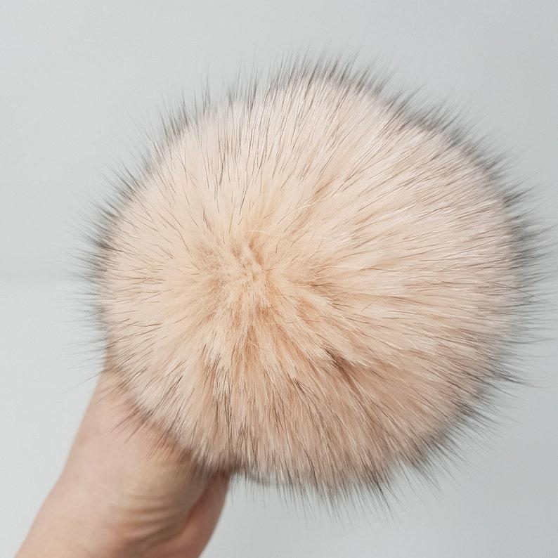 ba3bba078530 Gift for kids Fur pom Fox Fur pompom Real Fur ball Faux Fur | Etsy