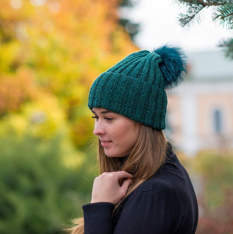 e9fd98cda20 Knitted girls hat winter Women pom hat winter Knit beanie for