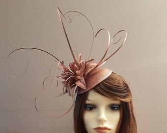 Rose Gold Feathered Fascinator d5e0760c2e7