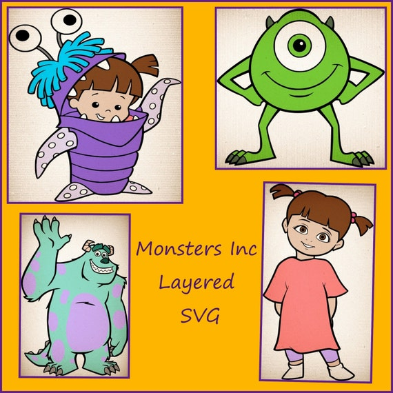 Monsters Inc SVG Mike Sully Boo SVG Monsters Inc decals