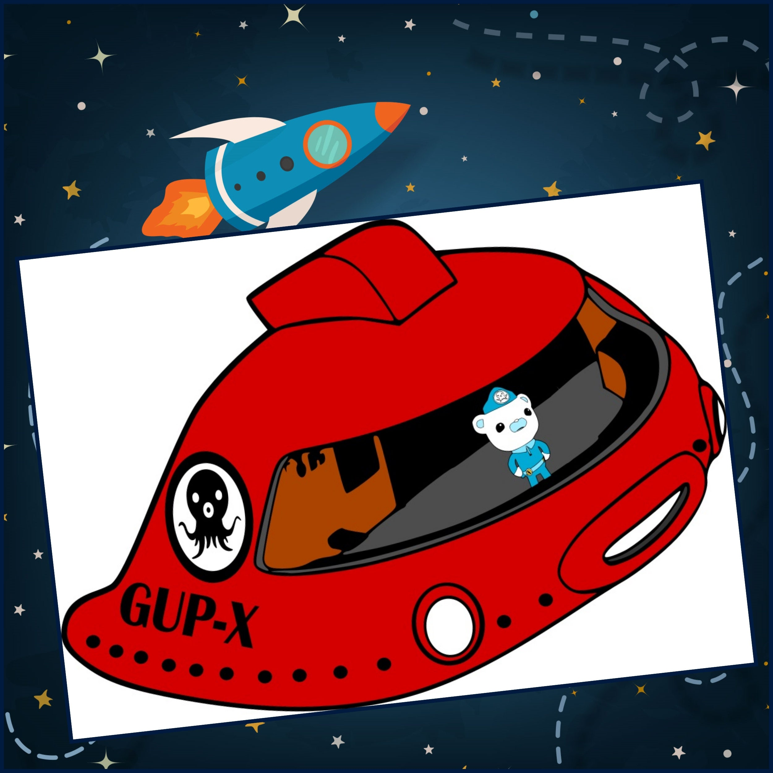 Octonauts SVG Gup-X Layered SVG Ocotnauts Gup-x Designs | Etsy