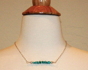 Turquoise Chip Bead Designer Necklace