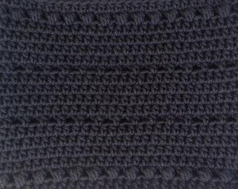 Open Striped Hand-Crocheted Cowl - White, Cream, Aran Fleck, Taupe, Light Gray, Medium Gray, Black