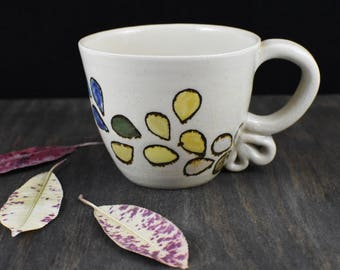 Small handpainted cappuccino cup