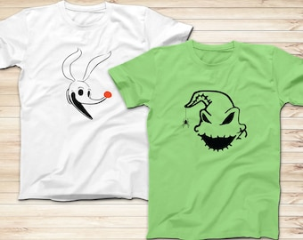 fc111430 Oogie Boogie and Zero T-Shirts, Couples Shirts, Disney Nightmare before  Christmas Shirts, Adults and Kids Shirts, Customize Disney Shirts