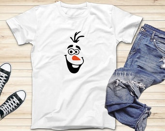 0dcab0cc Olaf Smile Shirt, Disney Frozen Shirt, Olaf T-Shirts, Adults and Kids Shirts,  Family Disney Vacation and Everyday Shirts, Short Sleeve