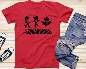 PJ masks  Squadgoals hero logo T-Shirts c4acca156