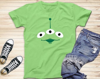 c027bca0d Toy Story Aliens T-Shirts, Toy Story Disney Inspired Shirts, Green Funny  Alien T-Shirt, Disney Trip Shirts, Adults and Kids Shirts
