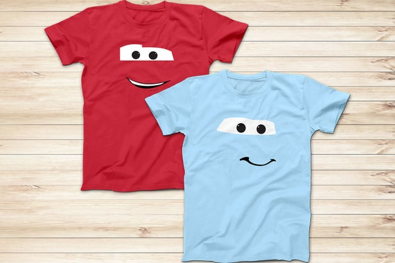 59a4a9a8d038 Disney Cars McQueen and Sally Shirts, Lightning McQueen and Sally Porsche  Disney World Shirt, Adults and Kids Sizes, Short Sleeve Shirt