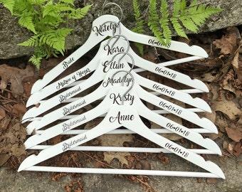 Wedding Hanger, Personalized Wedding Hanger, Bridal Hanger, Bride Gift, Bridesmaids Gift, Custom Hanger, Wedding