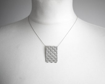 Fish Scales Necklace in Sterling Silver