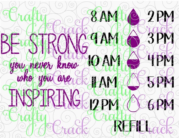 Be Strong You Never Know Who Are Inspiring Water Bottle Etsy