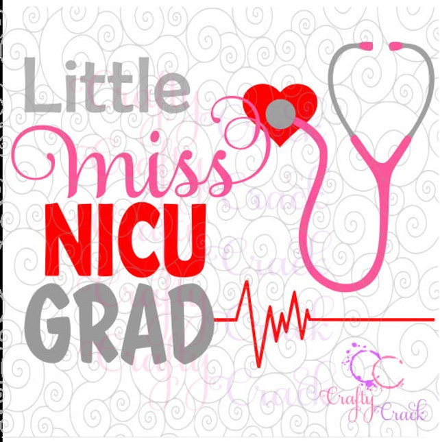 Kleine Miss NICU Grad Svg Dxf Png digitaler Download für | Etsy