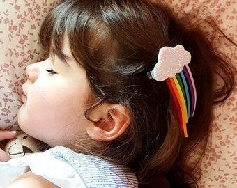 4 Pcs Glitter Unicorn Butterfly Hair Clips Birthday Party Girls Kids Gift Dress