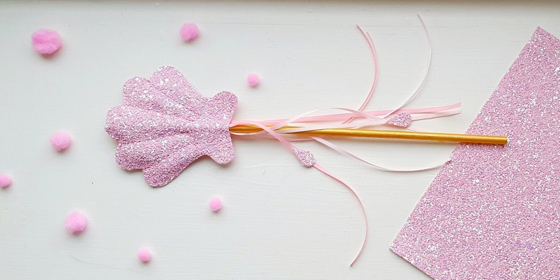Mermaid magic wand pastel pink wand The little mermaid gift Shell wand Magic fairy wand Mermaid party favor. Gift for girls