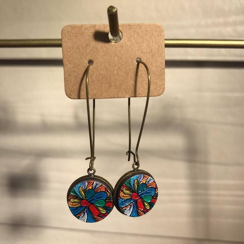 Printed Earrings 3D Earrings 3D Wood Embossed Wooden Earrings Embossed Wood Wooden Earrings Wooden Studs