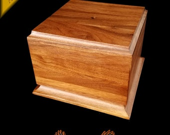 Walnut Trophy Award Base 7 X 5 With Center Hole For Display