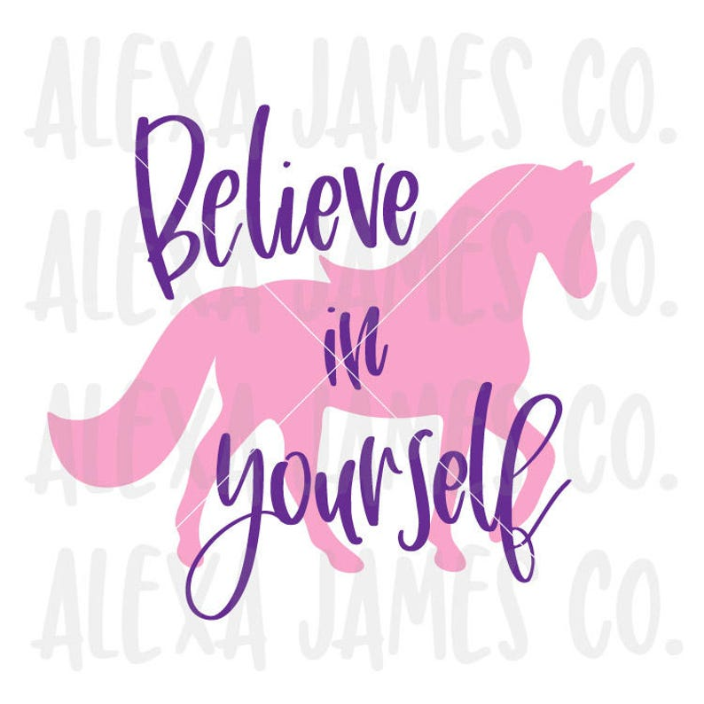 Believe in Yourself svg, Unicorn Silhouette svg, Unicorn svg, SVG Cutting  File, Cricut, Silhouette, svg png pdf