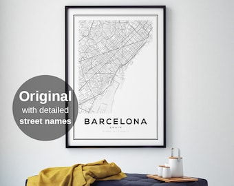 Spanish Travel Gift Personalised Spain Map Word Art Print Add Your Own Words