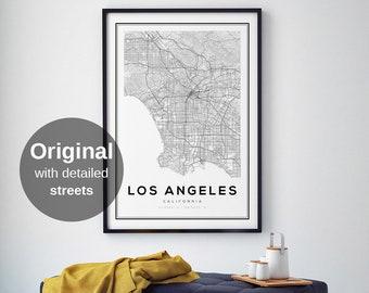 Los Angeles Map Print, LA, California Map, Los Angeles Map Poster, Los Angeles, California, LA Map, City Map Print, Black and White Map