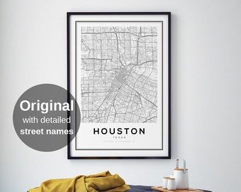 photo relating to Printable Gold Card Application Harris County known as Houston map Etsy