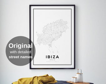 Map Of Spain For Printing.Spain Map Etsy